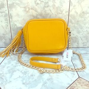 Just fab yellow shoulder bag